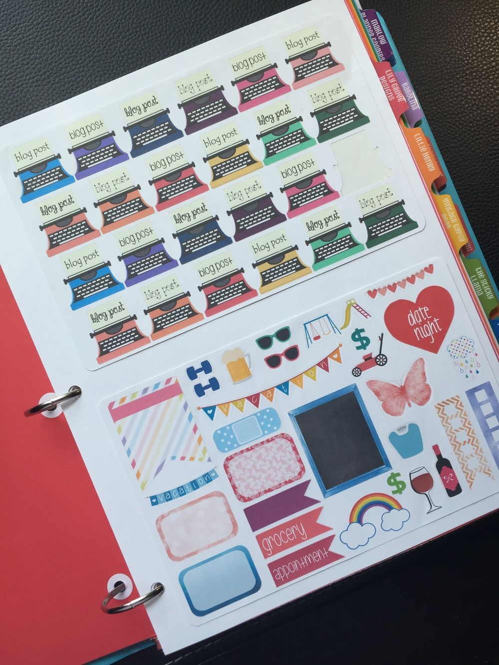 How to make your own sticker binder