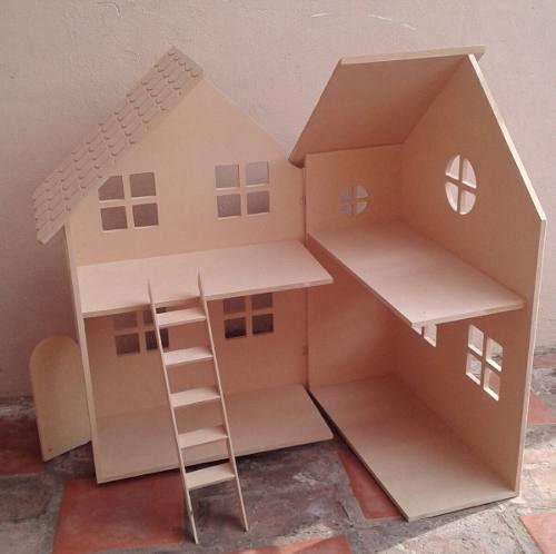 Casita De Muñecas Barbie De Fibrofacil Para Pintar Toy House House Cardboard Toys