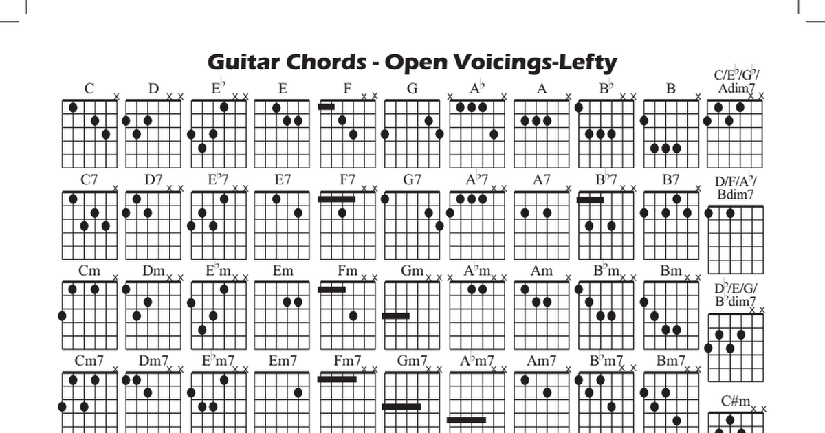 Guitar Chords Lefty Pdf Guitar Chords Guitar Playing Guitar