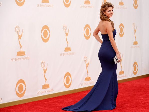 Maria Menounos arrives at the 65th Annual Primetime Emmy Awards held at Nokia Theatre L.A. Live on September 22, 2013 in Los Angeles, California.