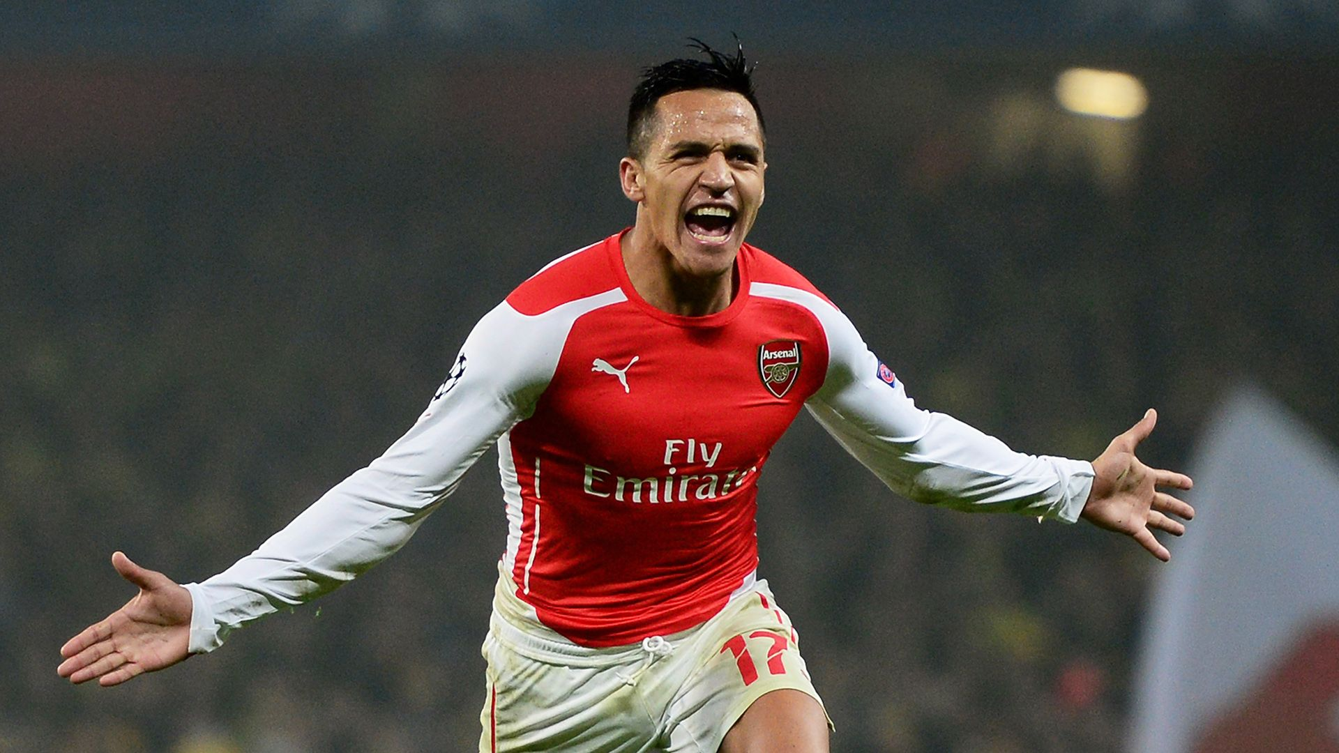 Get Latest Alexis Sanchez Manchester United Wallpapers Alexis Sanchez scores two fine goal to secure three very important points for Arsenal when West Bromwich Albion Thursday night visited the Emirates Stadium. See highlights from the confrontation below.