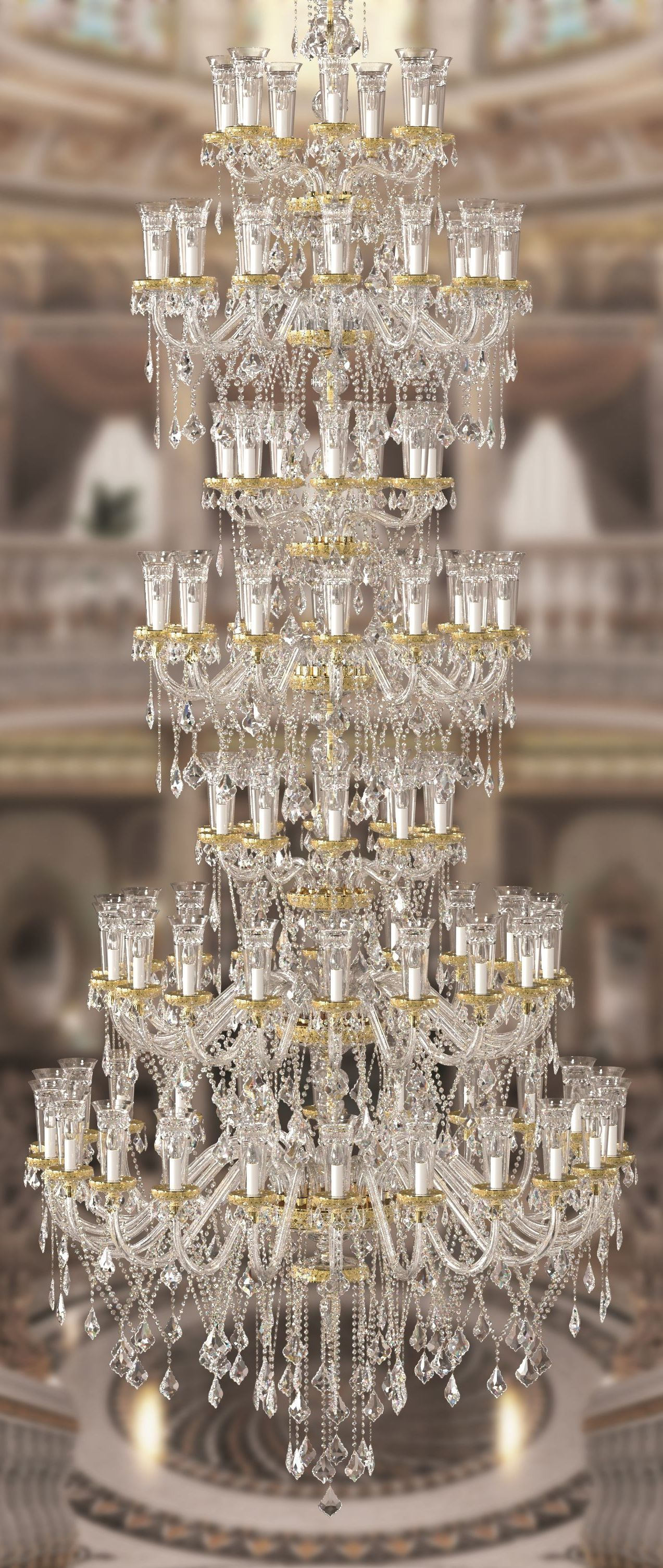 Big dinastia chandelier by aysan dia 170 x h 450 cm designed for explore aysans most recent aurora collection luxurious chandeliers wall lights and table lamps designed specifically for projects of palaces arubaitofo Image collections