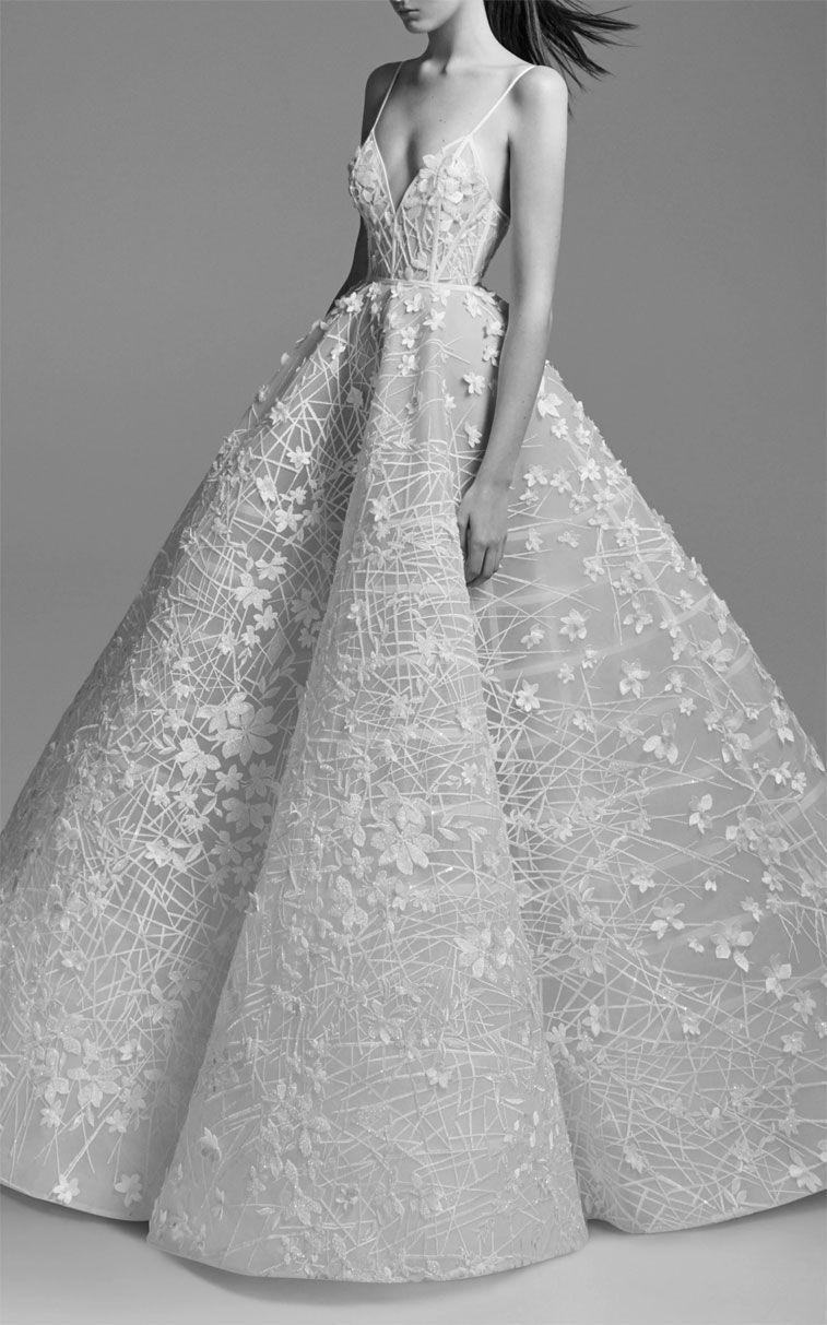 25 Gorgeous 3d Floral Applique Wedding Dresses Perfect For Spring Brides Fairy Wedding Dress Colorful Dresses Bridal Dresses