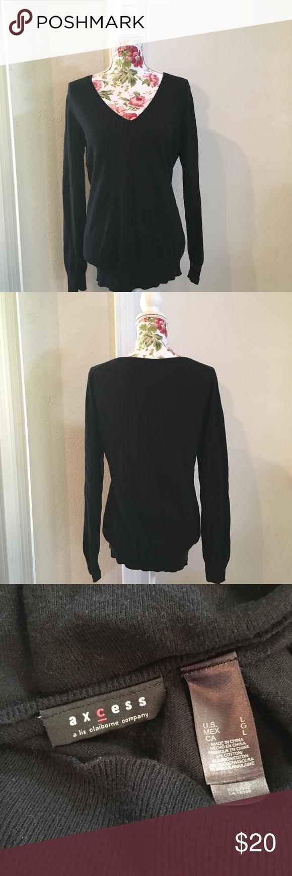 Axcess Liz Claiborne Company Sweater Size Lg | Liz claiborne
