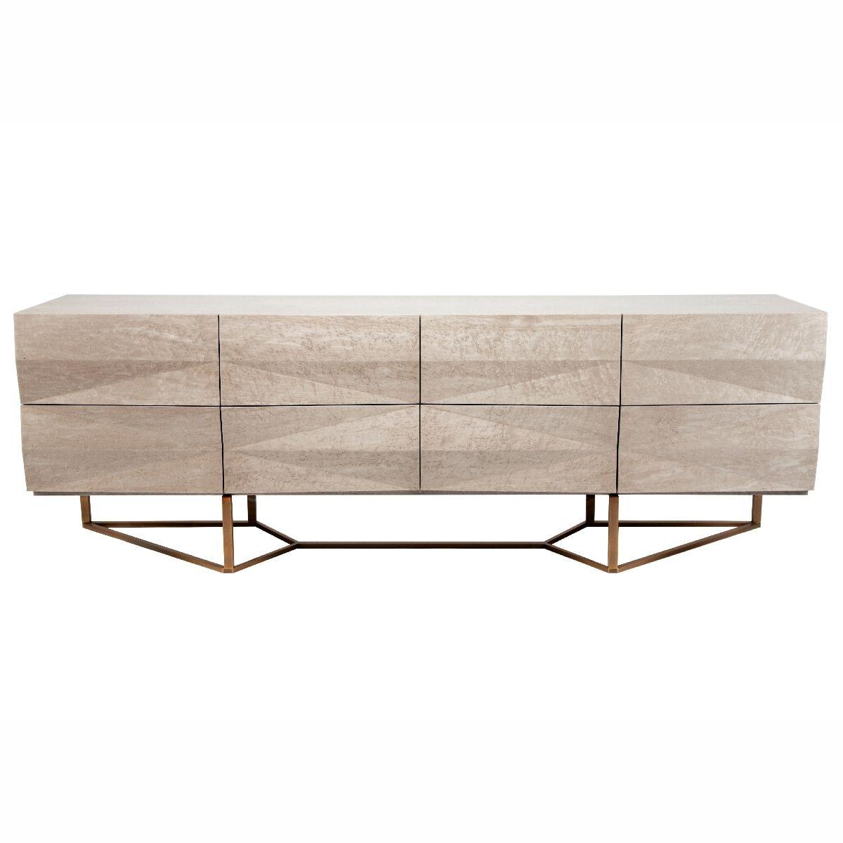 Canyon Credenza | Kim Price #exclusivedesign #luxurydesign #exclusivefurniture #goldfurniture #limitededtion #inspirationideias