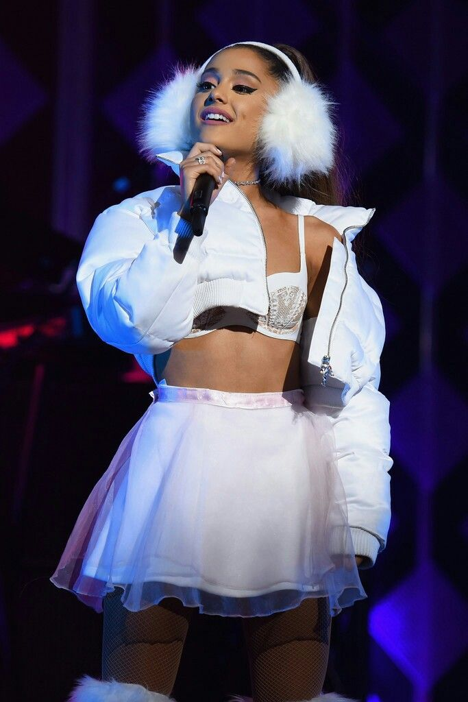 Ariana Grande Performs At Kiss 108s Jingle Ball In Boston Ma