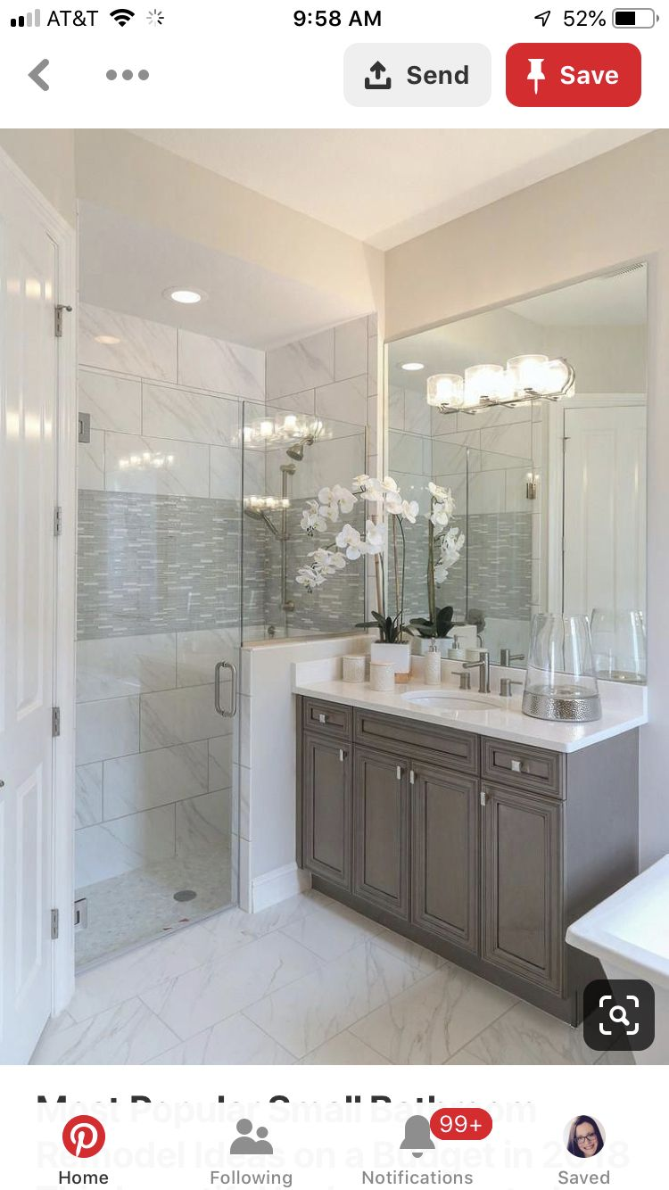 Pin By Feathered Nest Boutique Llc On Master Bath Small Bathroom Remodel Bathrooms Remodel Bathroom Remodel Master