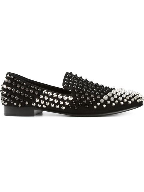a0aaf006acf6c Shop Giuseppe Zanotti Design studded slippers in Deliberti from the world's  best independent boutiques at farfetch.com. Shop 300 boutiques at one  address.