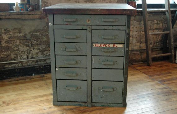 Very Heavy Industrial Cabinet With Solid Wood Top 11