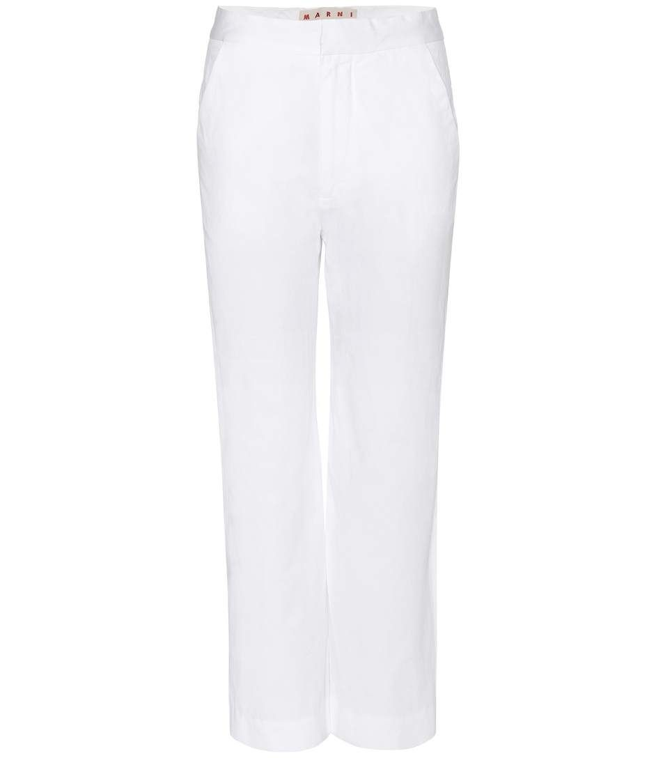 MARNI Cotton And Linen-Blend Trousers. #marni #cloth #clothing