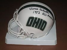 VINCE COSTELLO signed Ohio University Bobcats Mini Helmet 1952 All American OU