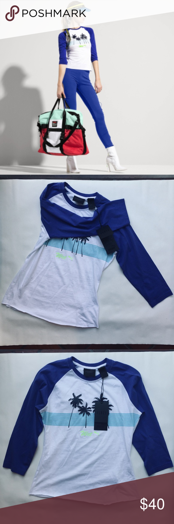 Hp🥂 Fenty Puma Graphic Wet T Shirt Baby Tee M Nwt Wet