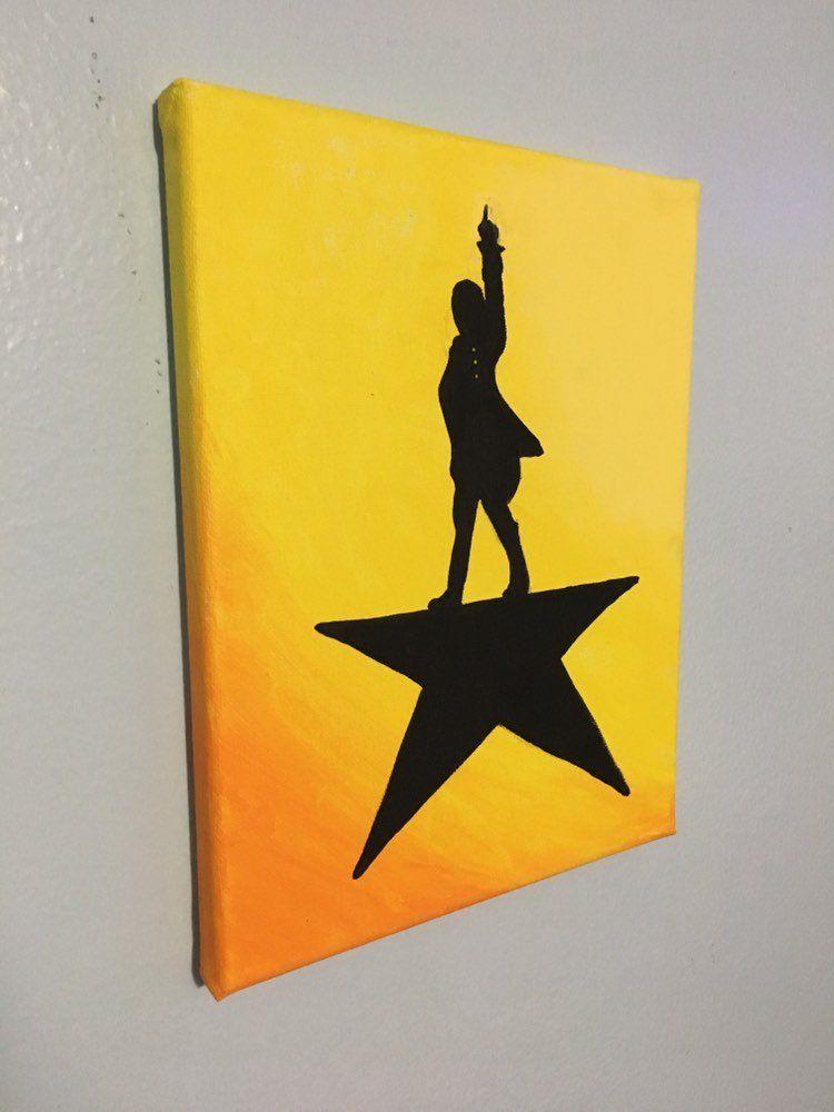 Pin By Mckenna Kaz On Hamilton Hamilton Painting Hamilton Broadway Canvas Painting