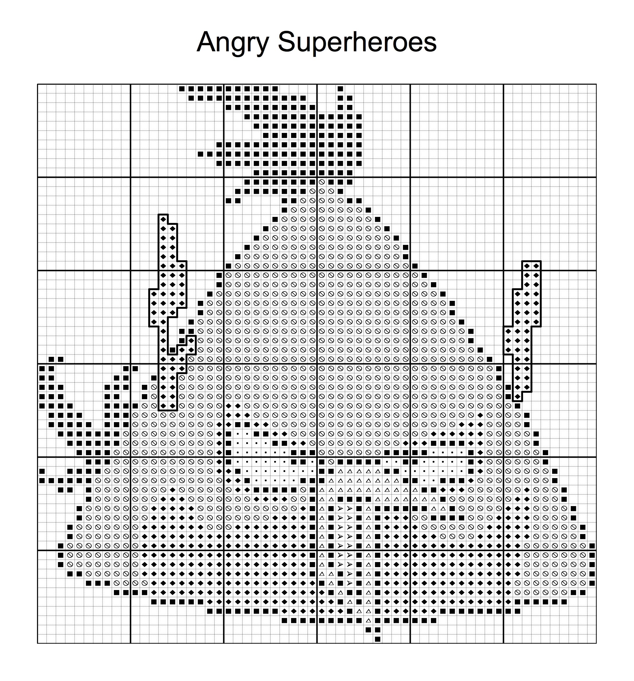 Cross Stitch - Angry Bird Superheroes 10 of 16 - flash | ANGRY BIRDS ...