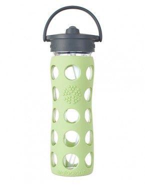 Amazon Com Lifefactory 9 Ounce Glass Beverage Bottle Orange Kitchen Dining Glass Baby Bottles Glass Water Bottle Bottle