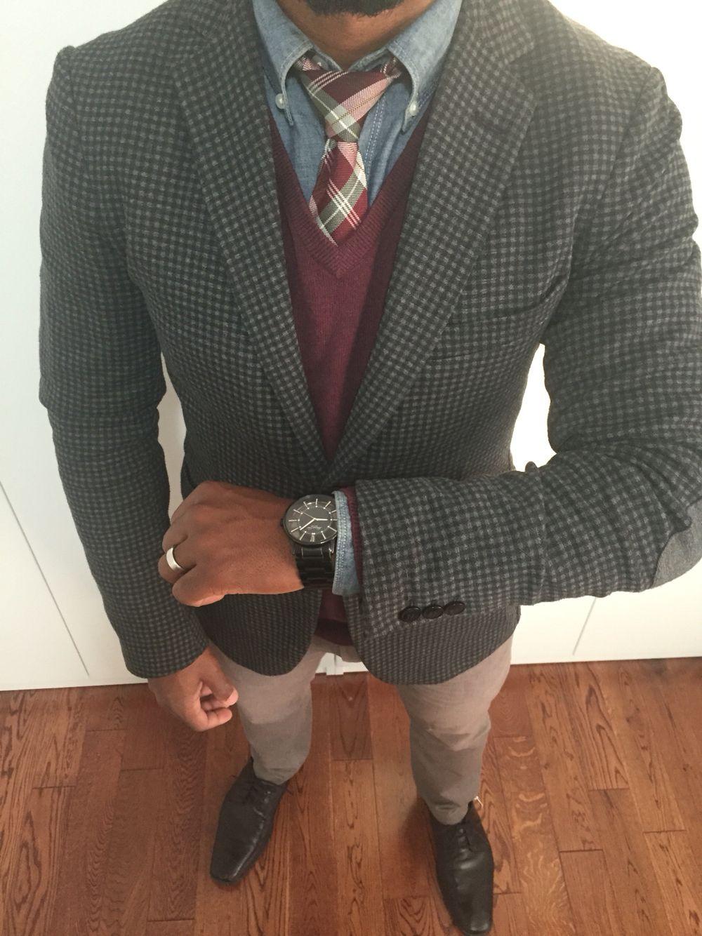 street style men fashion Men's fashion greyCheck