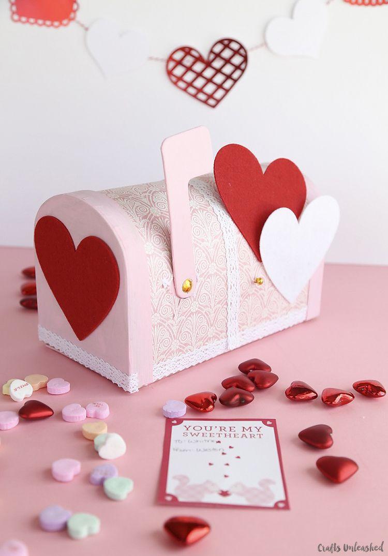 Valentine Boxes Pretty Paper Mache Mailbox Valentine Day Boxes