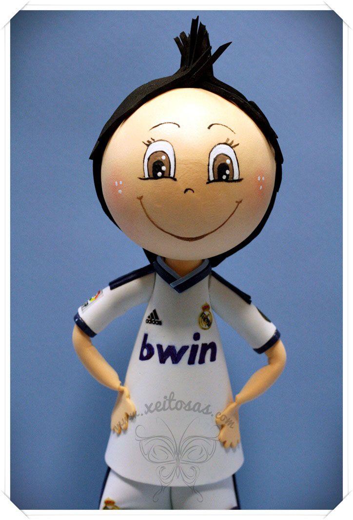 Fofucha Cristiano Ronaldo con la equipación del Real Madrid 2012/2013 ...