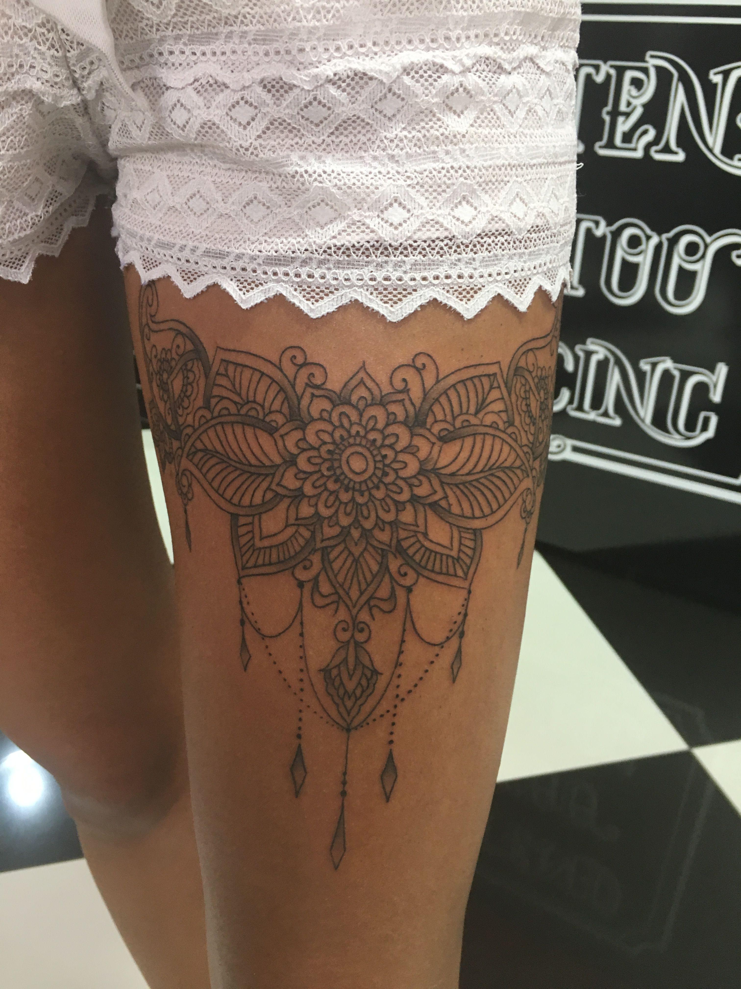 Photo of Tom Barker.tattoo_wien #tattoo #linework #linework tattoo #mandala tattoo #thigh…