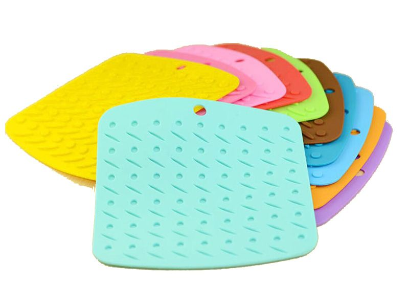 Premium Silicone Pot Holders Trivet Mat For Hot Dishes Dining Table  Non Slip High Heat