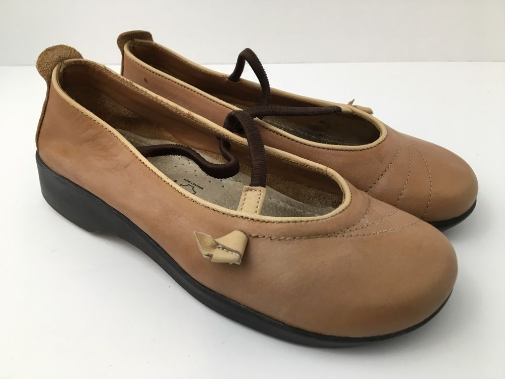Arcopedico Mary Jane Flat Shoes Women Size 6.5 Vitoria Leather Loafer Brown