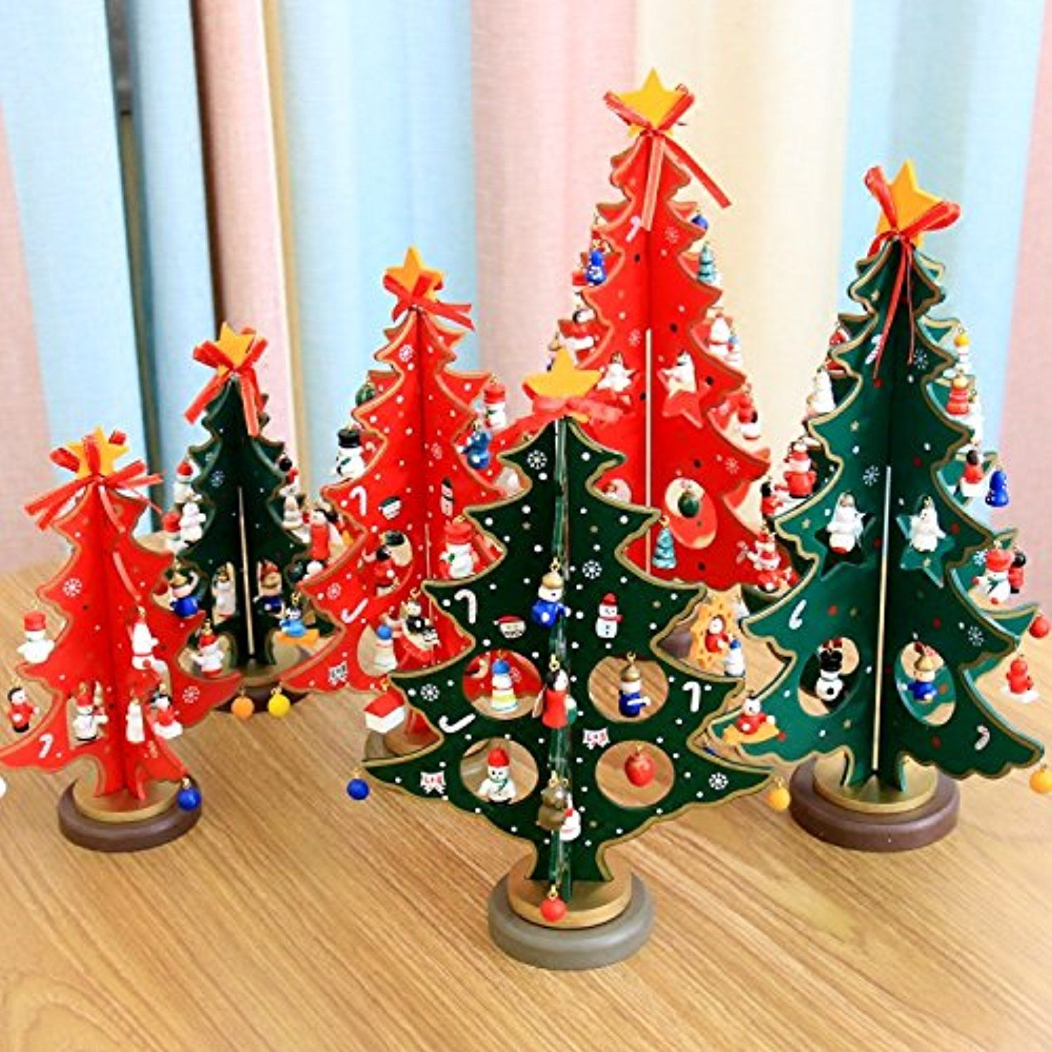 Small wooden christmas tree ornaments - Gaoyu Christmas Decorations Wooden Christmas Tree Desk Small Wooden Diy Mini Christmas Tree Ornaments Scene