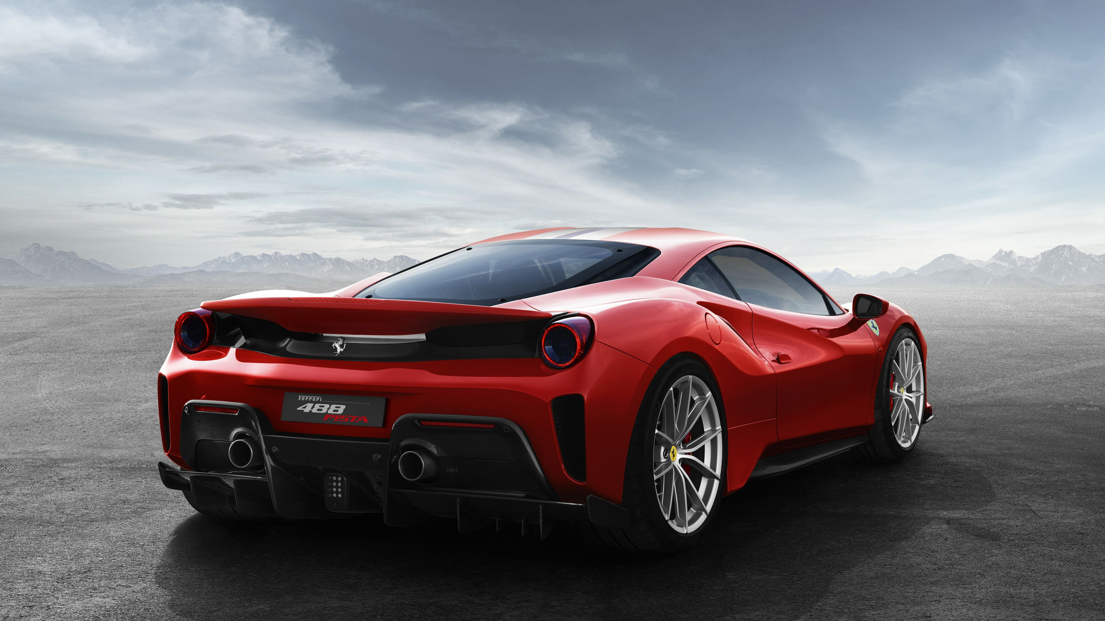 Wallpaper 4k Ferrari 488 Pista 2018rear 2017 Cars Wallpapers 4k
