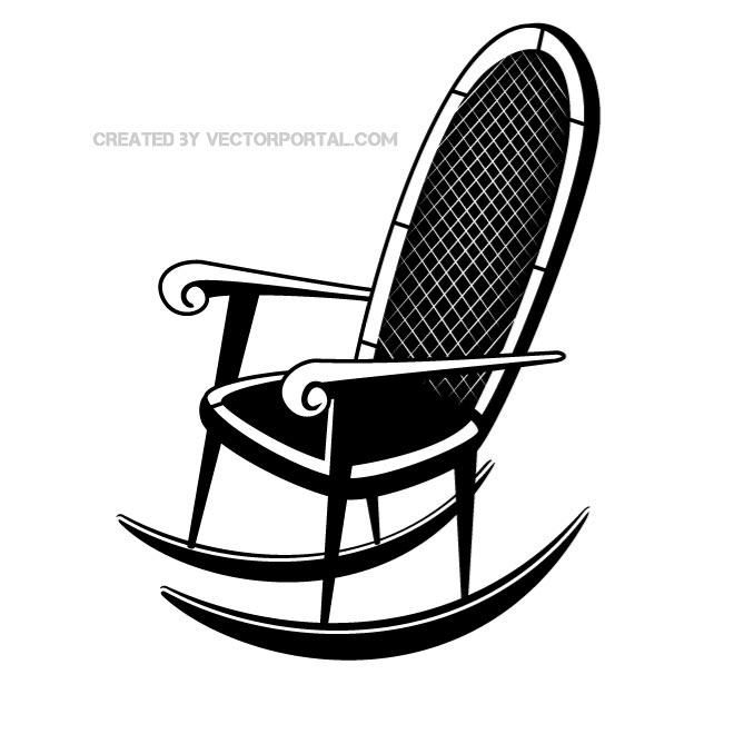 Rocking Chair Vector Image Rocking Chair Clip Art Art Images