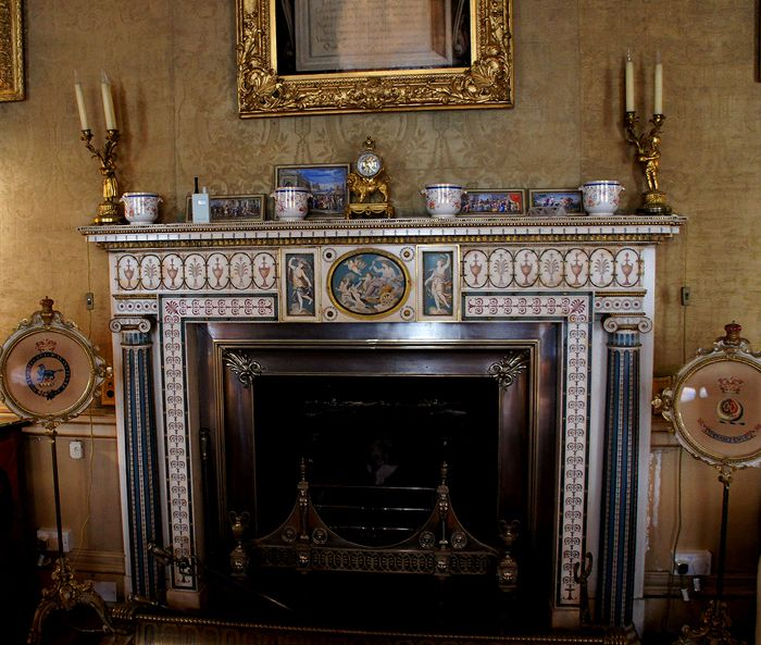 Sep 2014. Robert Adam fireplace, Green Drawing Room, Syon House (700×593)