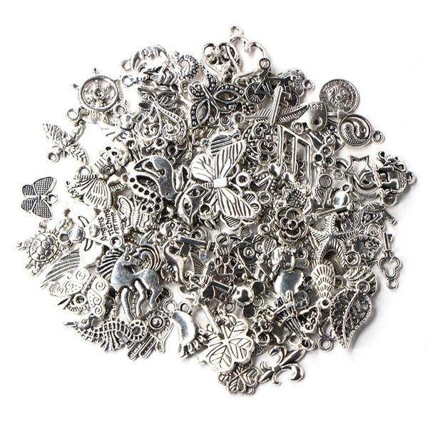 20pcs Vintage Tibetan Charms Mixed Shape Pendants Crafts Jewelry Findings