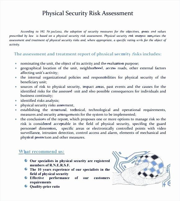 Physical Security Risk assessment Template in 2020
