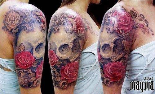 Tatuajes De Calaveras Para Mujeres En El Brazo Buscar Con Google