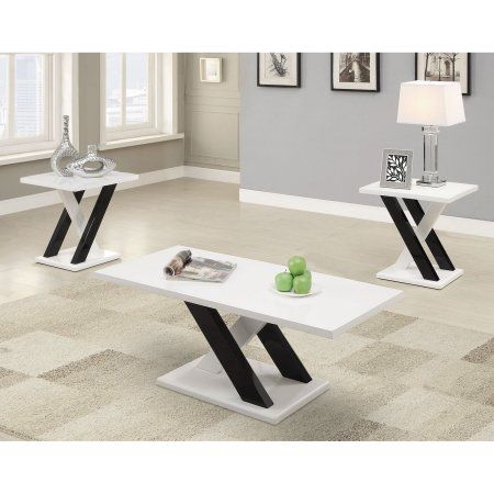 Coaster Furniture Modern 3 Piece Coffee Table Set, Black | Coasters ...