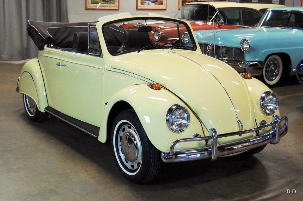 SOLD L19K Yukon Yellow '67 Vert Volkswagen, Vw beetle