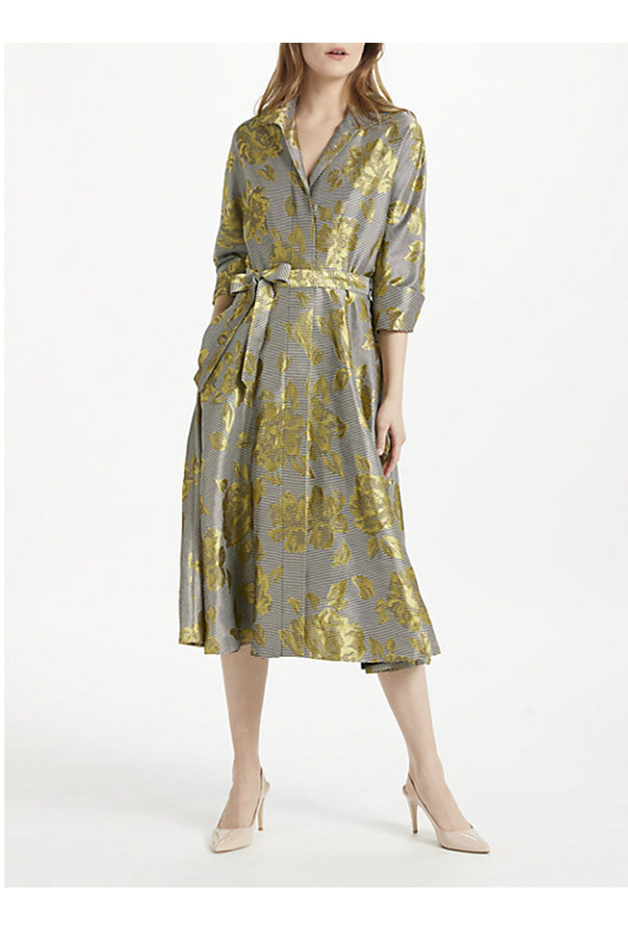 Unusual Mother Of The Bride Outfit Bruce By Oldfield Fl Jacquard Shirt Dress