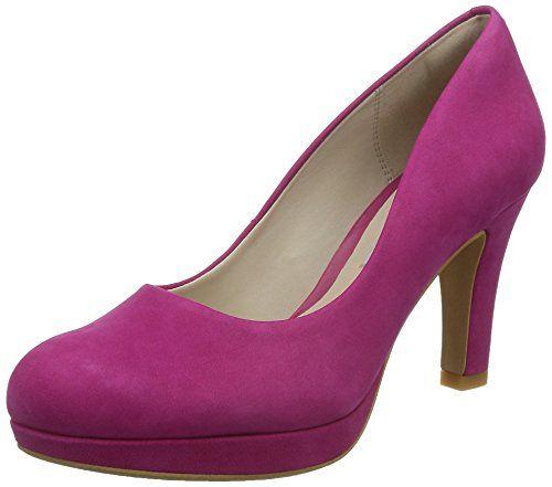 Clarks Crisp Kendra, Damen Pumps, Pink (Fuchsia Nubuck), 42