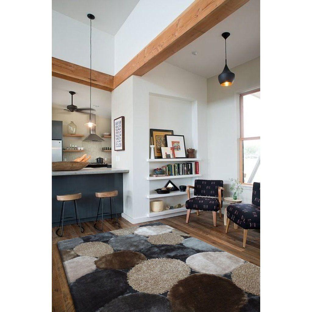 River stone grey beige brown polyester hand tufted shag runner rug 2 39 x 7 39 5 2 39 x 7 39 5 size 2 - Wanddurchbruch gestalten ...
