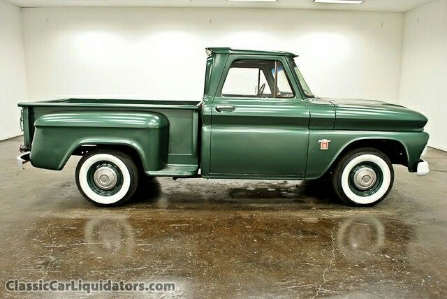 1964 Chevy Pickup Stepside 6 Cyl 4 Speed Standard Transmission Just Like This Got Us Through Carol S Pt Scho Chevy Pickup Trucks Trucks Classic Chevy Trucks