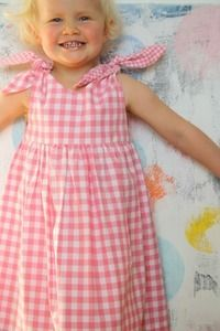Image of Rabbit Dress-pink check