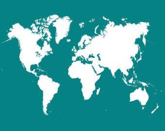 Cork board world map black diy pinterest cork boards cork cork board world map negro por onefancychimney en etsy gumiabroncs Images