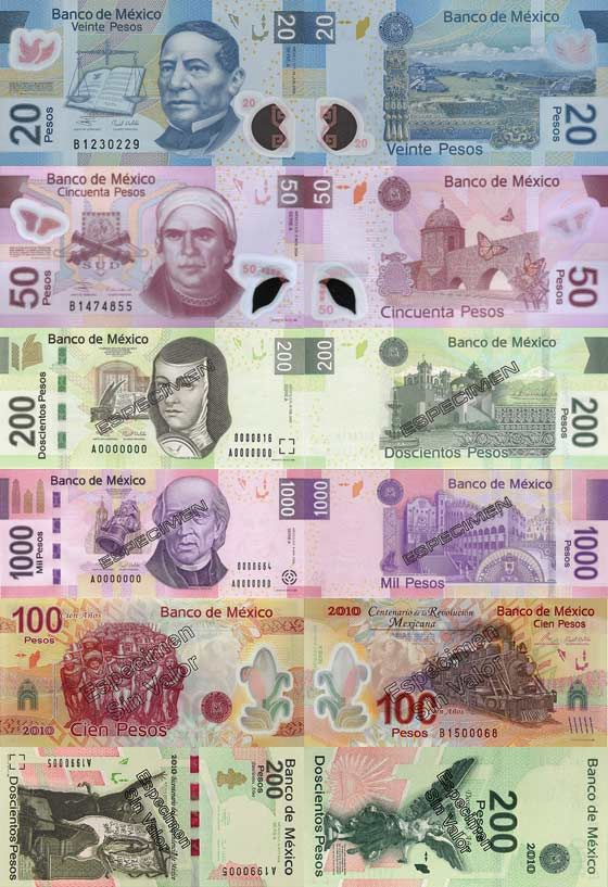 Mexican Peso The Color Of Money From Around World