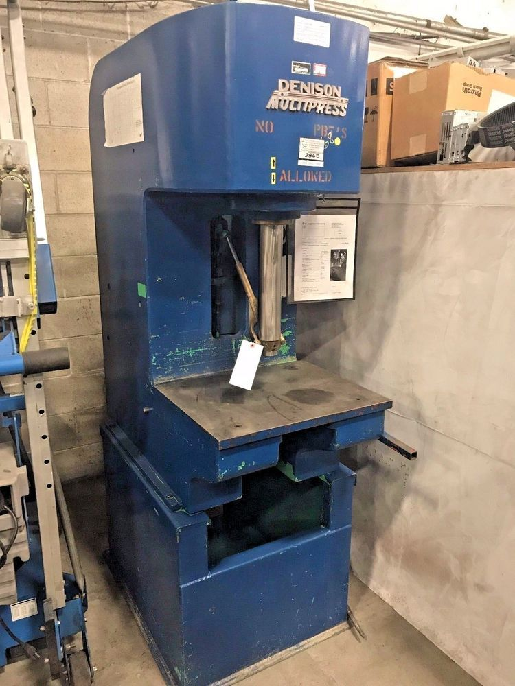 Denison Gap Multipress Model 12 Ton Hydraulic C Frame Press Denisonmultipress Equipment For Sale Denison Metal Working