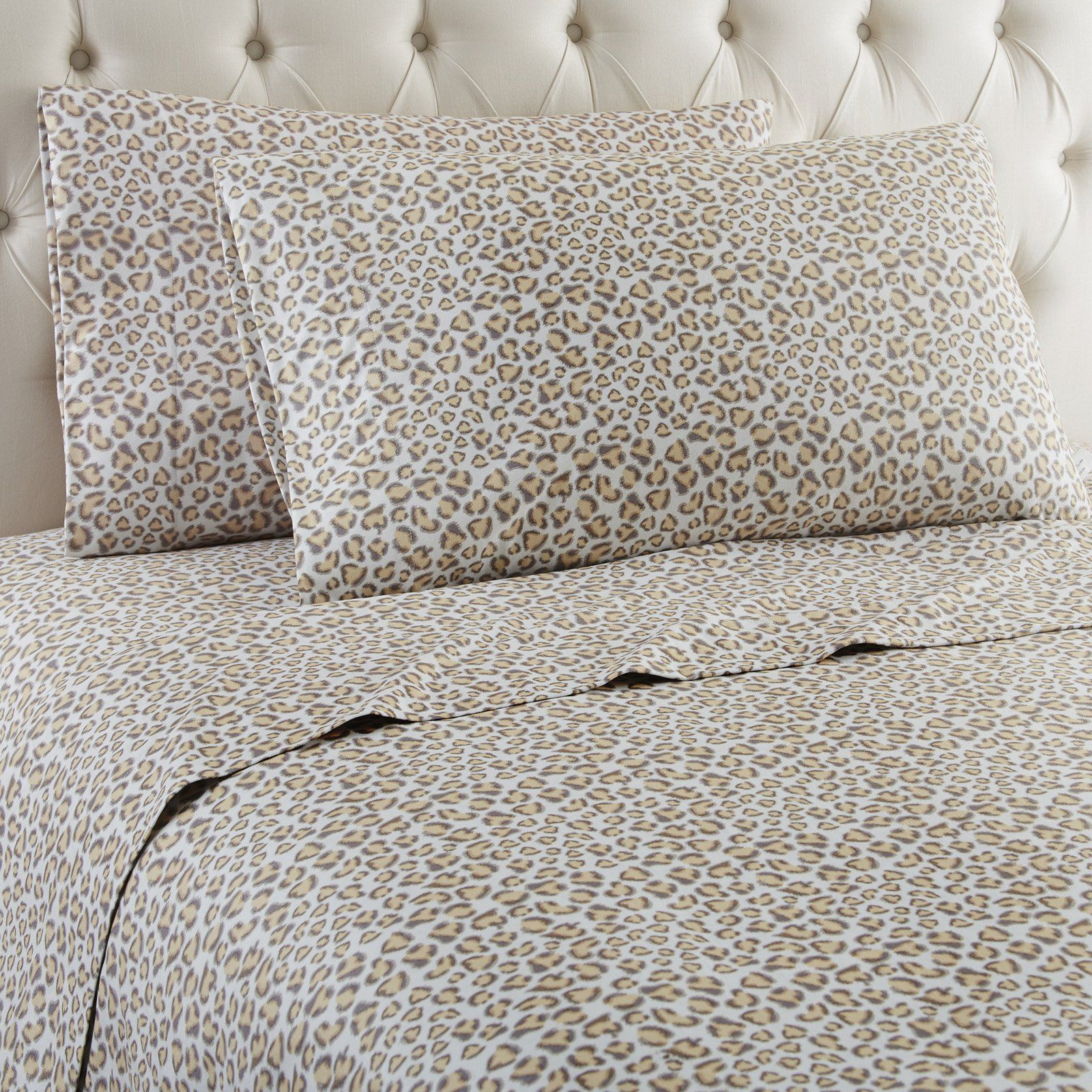 Leopard Sheet Set By Micro Flannel King Sheet Sets California King Sheet Sets Sheet Sets Full