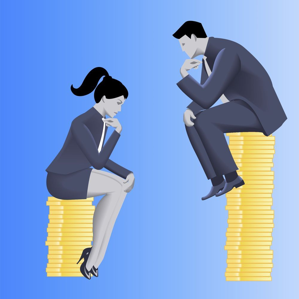 Man Woman Pay Gap Gender gap, Gender inequality, Inequality
