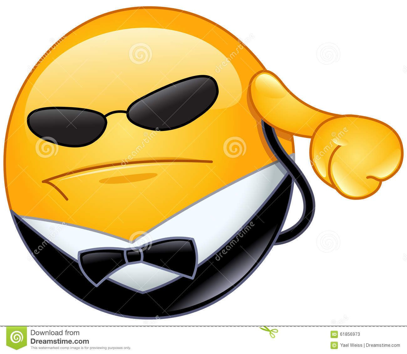 Emoticon da escolta ilustrao do vetor imagem 61856973 undercover security copy send share send in a message share on a timeline or copy and paste in your comments buycottarizona