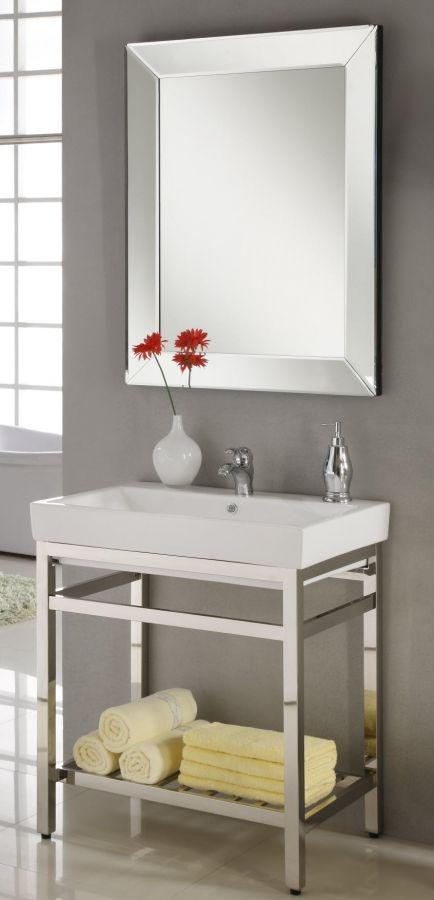 31 Inch Industrial Console Bathroom Vanity  Custom