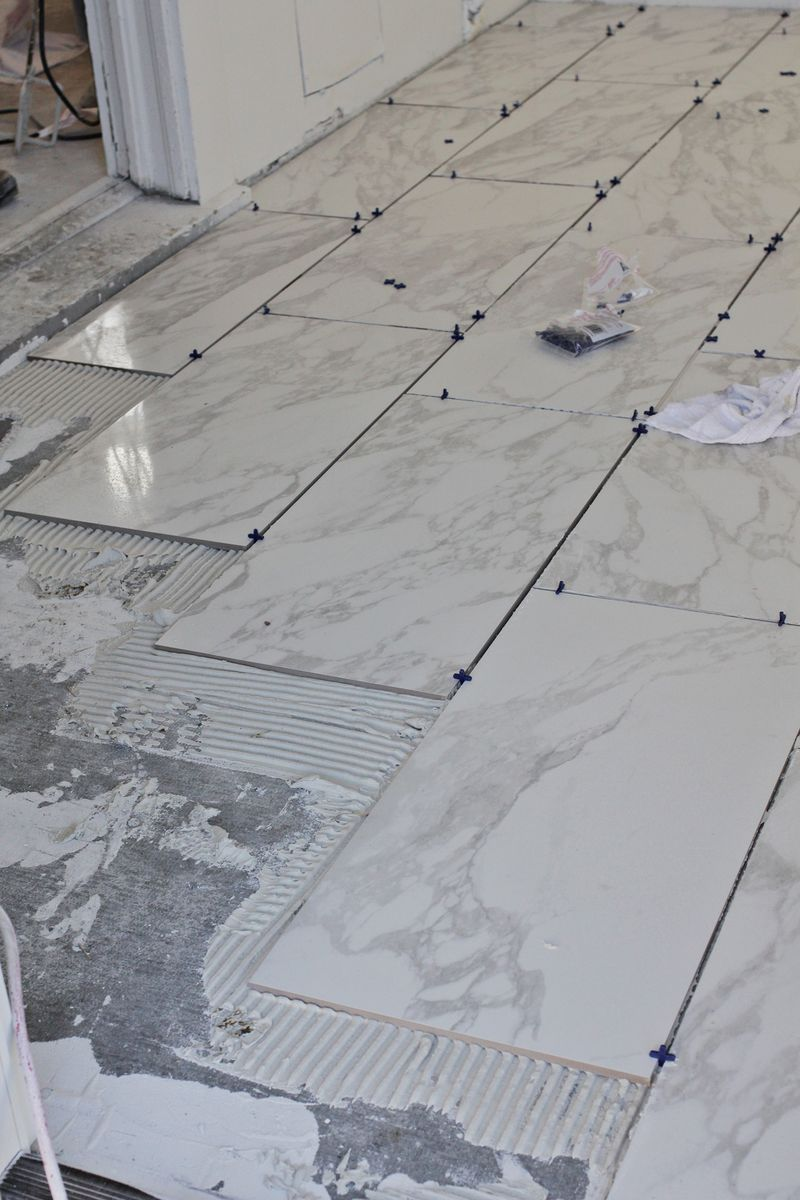 Beginners Guide To Laying Tile A Beautiful Mess Pinterest - Installing tile floor in bathroom