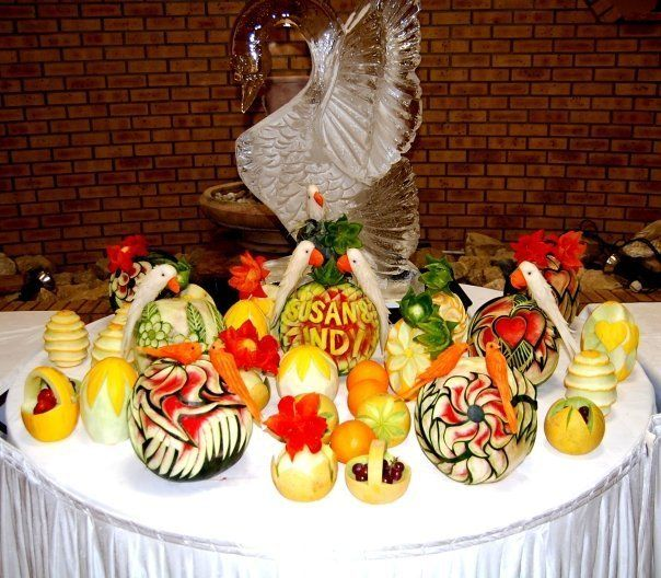 Plate Decoration For Gaye Holud: Fruit Deco #bangladesh