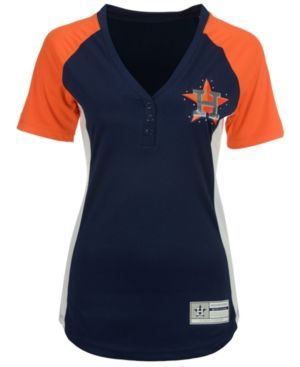 buy online 9a0d7 37e81 Majestic Women's Houston Astros League Diva T-Shirt - Navy ...