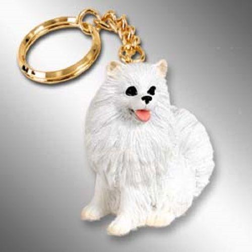 American Eskimo Miniature Dog Key Chain Ring Holder